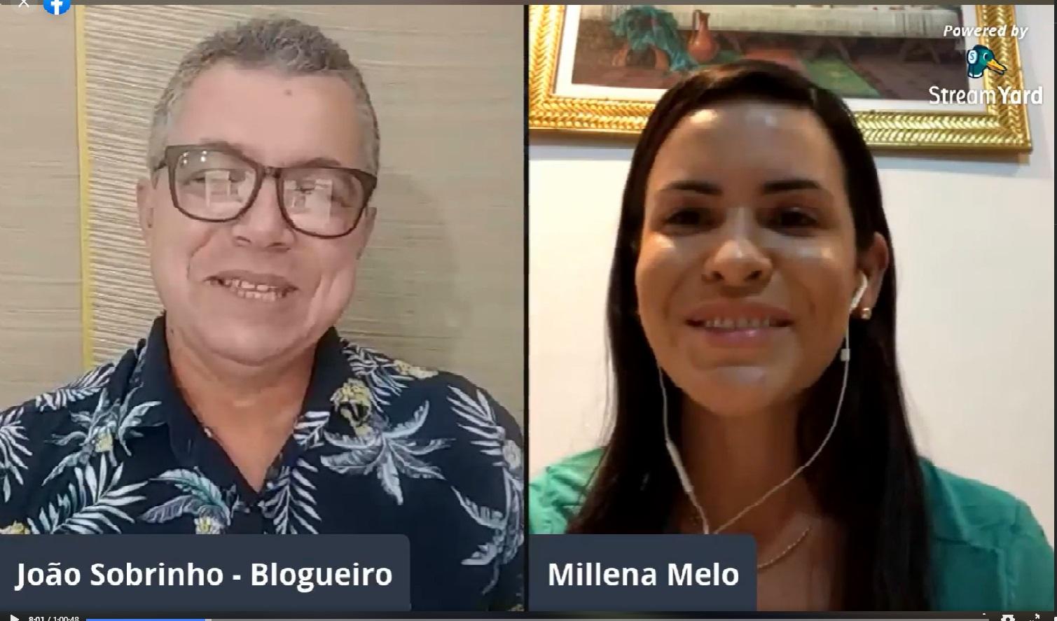 Millena Melo diz que sua Candidatura será confirmada na convenção partidária