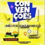 Joaquim Nabuco: Convenção Eleitoral do PTB/Solidariedade tem nova data