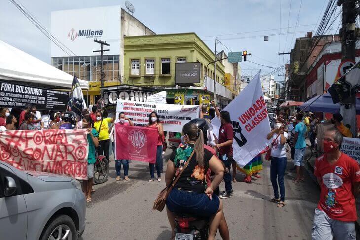 Palmares: Sindicatos, movimentos sociais e partidos promovem ato simbólico contra Bolsonaro