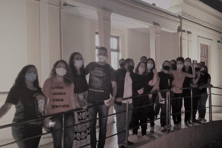 Palmares: Protesto Pacífico em Frente a Câmara de Vereadores